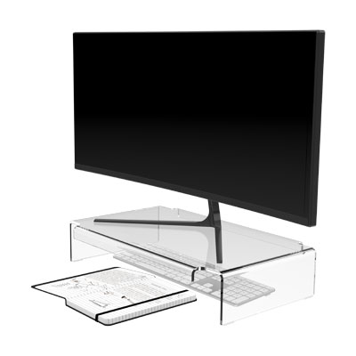 44.900 | Addit monitor riser 900 | clear acrylic | For monitors up to 30 kg. | Detail 2