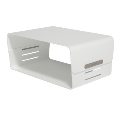 45.120 | Addit Bento® monitor riser - adjustable 120 | white | 3 height settings, max. weight capacity 20 kg | Detail 1