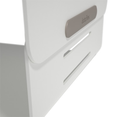 45.120 | Addit Bento® monitor riser - adjustable 120 | white | 3 height settings, max. weight capacity 20 kg | Detail 7