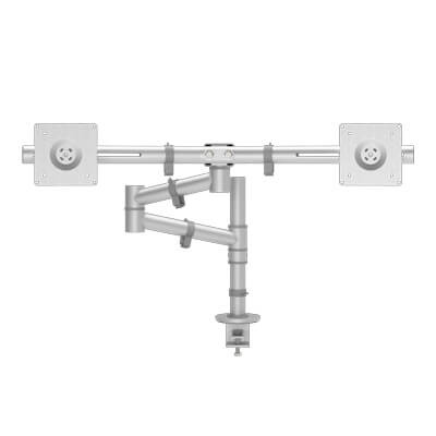 48.132 | Viewgo monitor arm - desk 132 | silver | For 2 monitors, adjustable height and depth, with desk mount. | Detail 4
