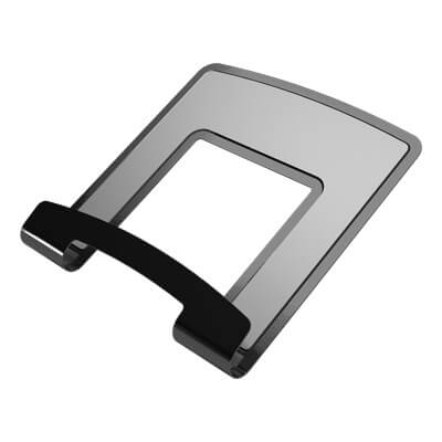 58.043 | Viewlite notebook holder - option 043 | black | For ergonomically positioning a laptop, suitable for Viewlite quick-release systems. | Detail 2