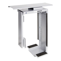 32.322 | Viewmate computer holder - desk 322 | silver | For vertical and adjustable mounting of small or large computers under the desk.