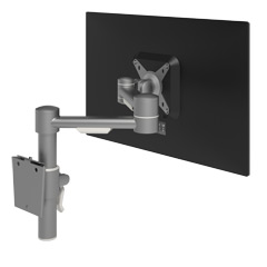 52.052 | Viewmate monitor arm - wall 052 | silver | For 1 monitor, adjustable height and depth, with wall mount.