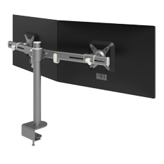 52.642 | Viewmate monitor arm - desk 642 | silver | For 2 monitors, adjustable height, with desk mount.