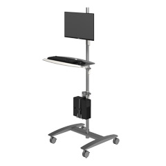 52.702 | Viewmate workstation - floor 702 | silver | Freely moveable trolley for data input.