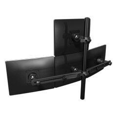 53.343 | Viewmaster multi-monitor system - desk 343 | black | For 4 monitors, adjustable height, without desk mount.