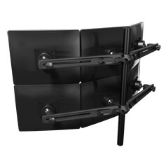 53.633 | Viewmaster multi-monitor system - desk 633 | black | For 6 monitors, adjustable height, without desk mount.